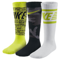 Nike Graphic Cotton Cushion Crew Kids' Socks (3 Pair)