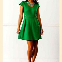 Gretchen Cap Sleeve Ponte Dress