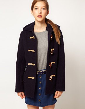 Gloverall Heritage Duffle Coat in Boiled Wool at asos.com