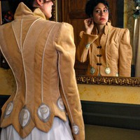 Embellished Sport Jacket White Peacock Collection by marygwyneth