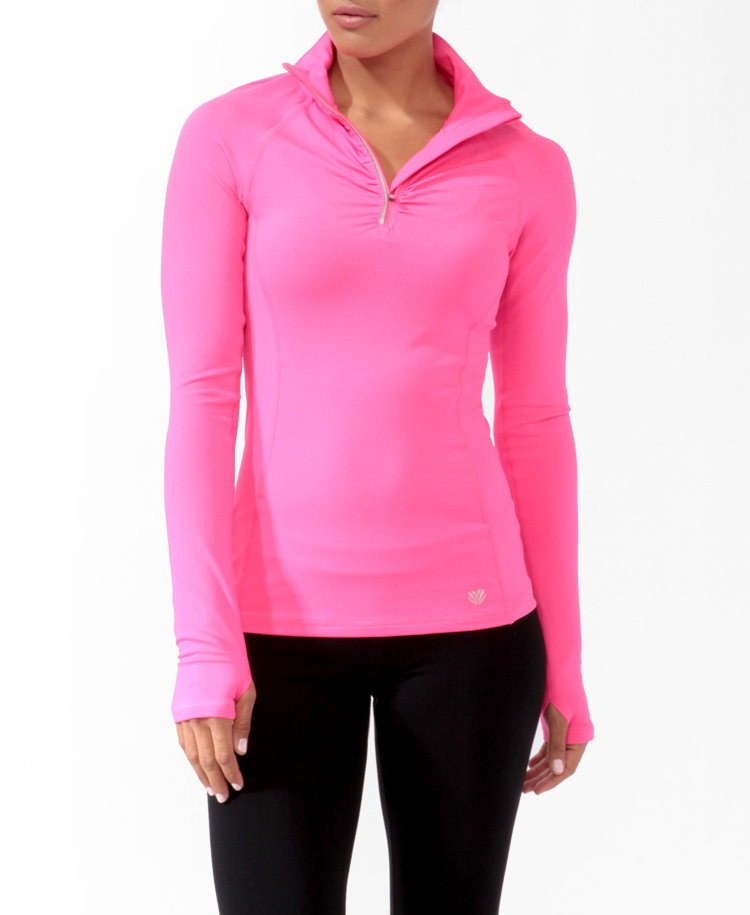 Ruched Trim Athletic Jacket
