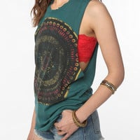 Title Unknown Mandala Eye Cutoff Tank Top