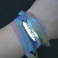 Serenity Rainbow Ribbon Wrap Layering Bracelet