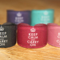Keep Calm and Carry On Ring Choose Your Size by kaykreationsphoto