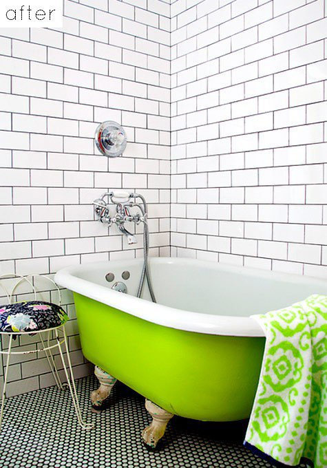 Bathroom / Design*Sponge » Blog Archive » before & after: emily?s bathroom