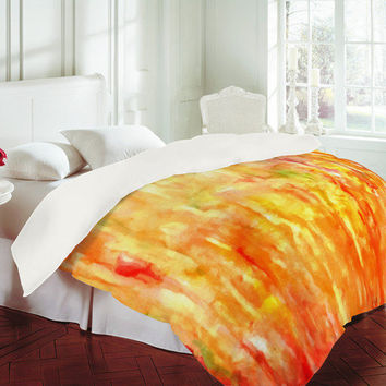 Rosie Brown Shower of Color Duvet Cover - Luxe Duvet Cover /