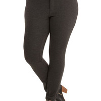 ModCloth Skinny Tour Couture Pants in Charcoal - Plus