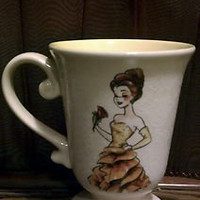 DISNEY DESIGNER DOLL COLLECTION MUG / CUP - BELLE BEAUTY &amp; THE BEAST