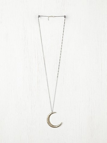 Free People Moon Necklace