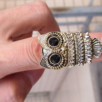 owl ring, Adjustable Band