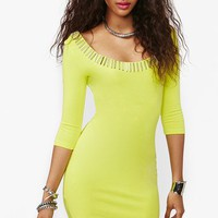 Gold Rush Dress - Neon Yellow