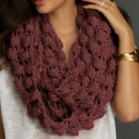 Pink Popcorn Infinity Scarf