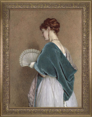Victorian trading Co. - www.victoriantradingco.com - Woman with a Fan