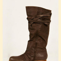 Bongo Leather Boot in Olive