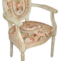 Victorian trading Co. - www.victoriantradingco.com - Needlepoint Arm Chair