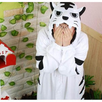 Lovely Cartoon White Tiger Kigurumi Costume [TQL120329021] - £35.19 : Zentai, Sexy Lingerie, Zentai Suit, Chemise