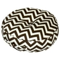 20 - inch Round Floor Pillow - Zig Zag fabric - Brown.- Greendale Home Fashions-For the Home-Pillows, Throws &amp; Slipcovers-Pillows