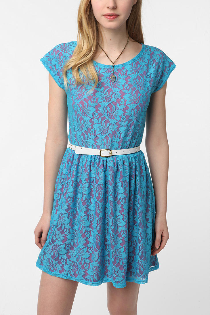 Urban Renewal Lace & Jersey Gibson Dress