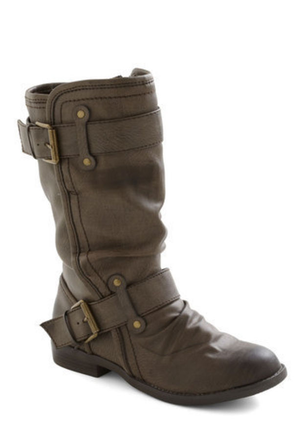 Speed Rumple Boots in Bistre | Mod Retro Vintage Boots | ModCloth.com