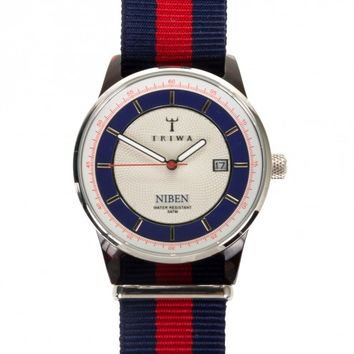 Triwa Hurricane Niben Blue/Red Band Watch