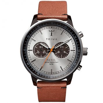 Triwa Havana Brown Nevil Watch w/ Brown Leather Band