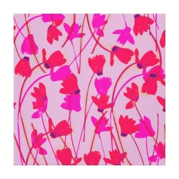 Flowering Cyclamen #2 - Wrapped Canvas