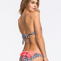 Damsel Bow Hipster Bikini Bottoms Coral  In Sizes
