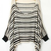 Pretty Striped Black Sweater$41.00