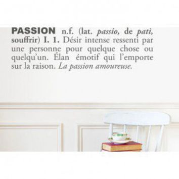 ADZif Blabla Passion (French) Wall Decal - T3108-FR - All Wall Art - Wall Art & Coverings - Decor