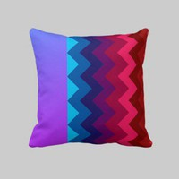 Bright Chevron Pillow from Zazzle.com
