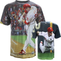 Chase Utley Philadelphia Phillies Hi-Def Sublimated Dye Photo T-Shirt - http://www.shareasale.com/m-pr.cfm?merchantID=7124&userID=1042934&productID=537995658 / Philadelphia Phillies