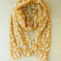 On a Perch Scarf in Harvest [3242] - $14.00 : Vintage Inspired Clothing &amp; Affordable Summer Dresses, deloom | Modern. Vintage. Crafted.