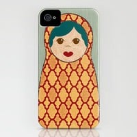 Red and Yellow Matryoshka Nesting Dolls iPhone Case by ElephantTrunkStudio | Society6