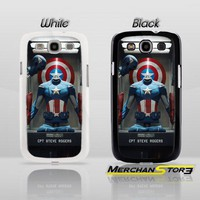 The Avengers Captain America Steve Rogers Custom Samsung Galaxy S3 Cas