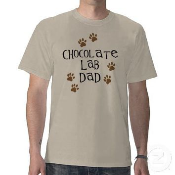 Chocolate Lab Dad Shirt from Zazzle.com