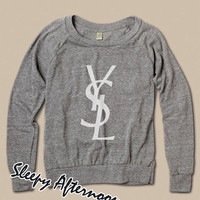 YSL logo - Women Sweatshirt -  Grey