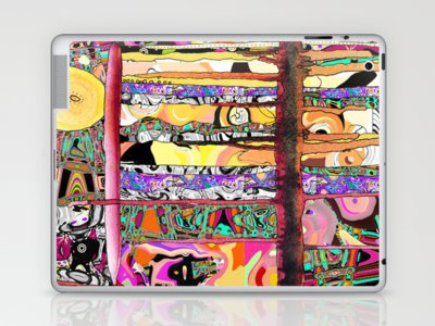 stripey Laptop & iPad Skin by Ingrid Padilla  | Society6
