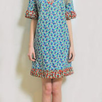 vintage button floral on floral dress by swelle boutique | notonthehighstreet.com