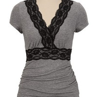 Lace Trim Surplus Top