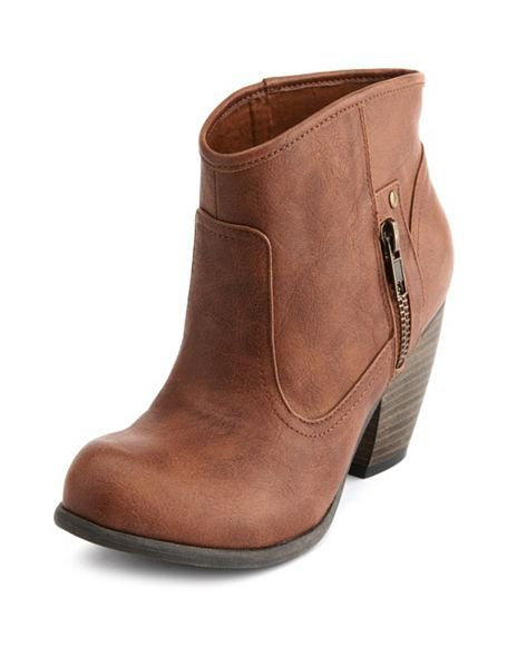 Side-Zipper Western Bootie: Charlotte Russe