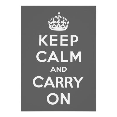 Keep Calm And Carry On Print from Zazzle.com