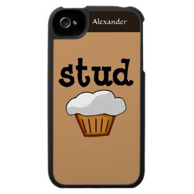 Stud Muffin, Cute Funny Baked Good Iphone 4 Case from Zazzle.com