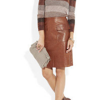 3.1 Phillip Lim leather skirt