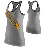 Nike Pittsburgh Steelers Ladies Warp Dri-Blend Performance Tank Top - Ash