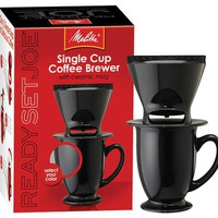 Melitta 64012 Ready Set Joe One Cup Coffee Maker at PlumberSurplus.com