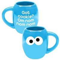 Amazon.com: Vandor 5-1/2 by 4 by 4-1/2-Inch Sesame Street Cookie Monster 18-Ounce Ceramic Mug, Multicolored: Kitchen & Dining