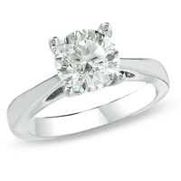 2 CT. Celebration Diamond?- Solitaire Engagement Ring in 18K White Gold - View All - Zales