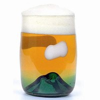 Sunset Mountain beer glass by tsukiyono-kobo