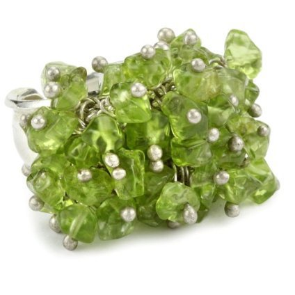 MINU Jewels Peridot Cluster Adjustable Ring - designer shoes, handbags, jewelry, watches, and fashion accessories | endless.com