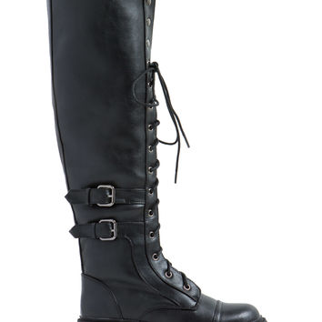 Industrial Strength Lace-Up Boots